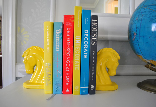 Painted book ends