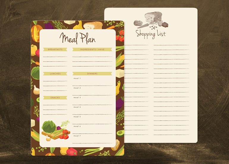 Meal Plan / Shopping List Notepad - Pre-order bonus
